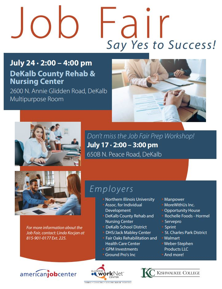 """Say Yes to Success"""" Career Fair Opens on July 24th! 